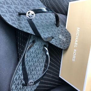 Brand new in box Michael Kors black sandals 9